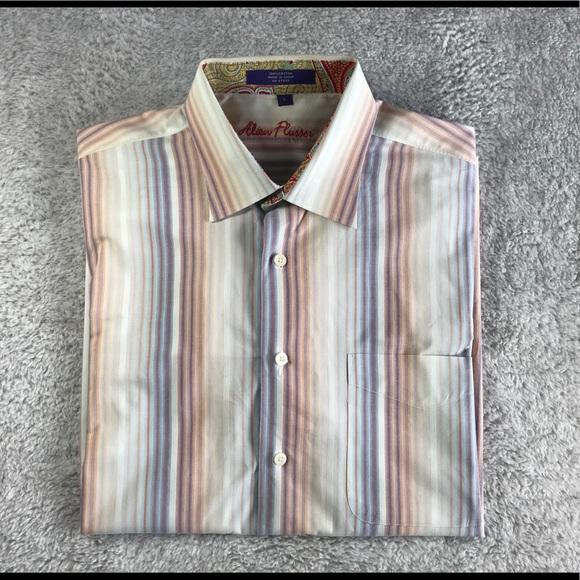 Alan Flusser Other - Alan Flusser Striped Dress Shirt L